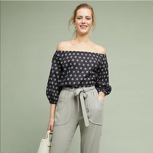 NEW Anthropologie Maeve Maiden Off Shoulder Top